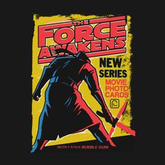 Star Wars: The Force Awakens Wax Pack Series  Created by Captain RibMan. On sale now at his TeePublic Shop.