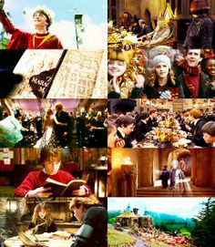 A partir de ese momento, Harry pasa la mayor parte de su tiempo en Hogwarts, donde vive muchas aventuras relacionadas con el segundo ascenso al poder de Voldemort, que continúa con sus planes de dominar el mundo mágico y eliminar el mundo muggle. Cada libro cuenta un año (generalmente de julio a junio, salvo algunos flashbacks) de los siete que Harry debe pasar en Hogwarts para terminar su formación mágica.