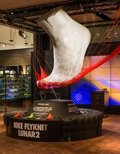Nike Retail Interior | Flyknit Lunar 2, Niketown London | by #MillingtonAssociates