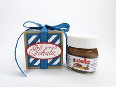 Geschenke für Männer - Männer Hallo Schatz Mini Nutella zum Geburtstag - ein Designerstück von Stempelitis bei DaWanda