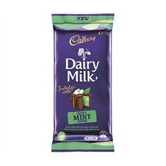 A bulk box of 16 Cadbury Crispy Mint Creme of chocolate blocks. Bulk Store, Selection Boxes, Cadbury Chocolate, Bathroom Ideas, Mint, Bar, Future, Peppermint, Future Tense