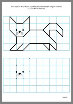 Coding For Kids, Math For Kids, Fun Math, Graph Paper Drawings, Graph Paper Art, Straw Activities, Preschool Activities, Free Printable Puzzles, Abstract Coloring Pages