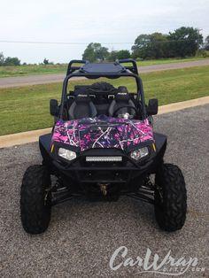Polaris Pink Phoenix Deluxe Trailerable ATV cover