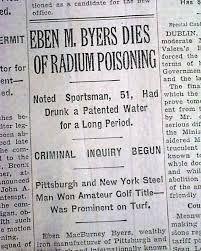 Image result for eben m byers Radium Girls, Nyc, Vintage Medical, Newspaper, Death, Water, Image, Gripe Water, Journaling File System