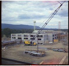 Watchtower Farms E building under construction  1971-72 (Roger Johnson)