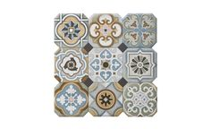 Carrelage ALL OVER, aspect carreaux de ciment multicolore, dim 20 x 20 cm - Les sols aspect carreaux de ciment - Collection Sol - Saint Maclou