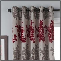 Image Result For Red Grey Curtains