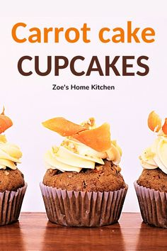 Cream Cheese Recipes, Cream Cheese Icing, Delicious Cupcakes, Carrot Cake Cupcakes, Healthy Muffins, Kid Friendly Meals, Cupcake Recipes, Super Easy, Carrots