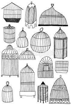 Birdcage doodles. Just make the shape and then fill it with stripes. Do it couple of times so that you get used to it. Then change the shape and do it again. :)