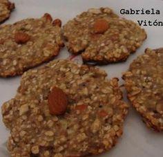 Cookies de avena, plátano y almendras. Receta saludable