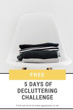 Do you love everything in your home? Is it organised? Do you feel relaxed when you're in your home? Does your home make you smile?  If you answered no to any of the above questions then it may be time for a decluttering session.  Why not join us for the FREE 5 Days of Decluttering Challenge. Find out more here! #Decluttering #HomeOrganization #Minimalism