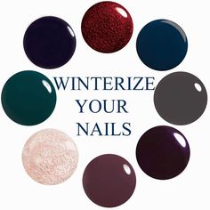 Here is some winter nail color ideas to inspire you!  Share and like our posts (must do both) in January to be entered to win a free manicure and pedicure! Drawing 2/1/15. #manicure #pedicure #nailsalon #asheville