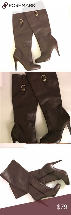 "SALE!!! Banana Republic Brown Leather Boots Beautiful, brand new Banana Republic Leather Boots . Heel height 4"" . Size 6.5 Banana Republic Shoes Heeled Boots"