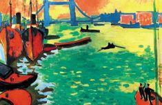 Adolph Menzel Museum: The Thames of London Andre Derain Art Fauvisme, Fauvism Art, Impressionism Art, Henri Matisse, André Derain, Edouard Vuillard, Paul Cezanne, Maurice De Vlaminck, London Painting