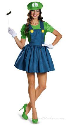 b9ed4c148b78 Luigi Kostume Til Kvinder Blikkenslager Kostume