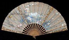 Antiguo Victoriano De Seda Y Madera Ventiladores Fan unserem maßgeschneiderten EF Lehrplan eventail ventaglio abanico 1890