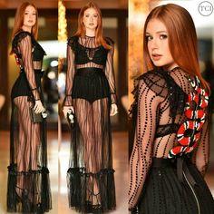 "Portal Famosos Brasil on Instagram: ""#IntimissimiOnIce Marina Ruy Barbosa veste Gucci em evento nesta sexta-feira (7) em Verona, na Itália."""