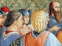 BEATO ANGELICO - Valériano condanna san Lorenzo, dettaglio - affresco - 1447-1449 - Cappella Niccolina, Città del Vaticano