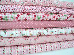 strawberry pink fabric