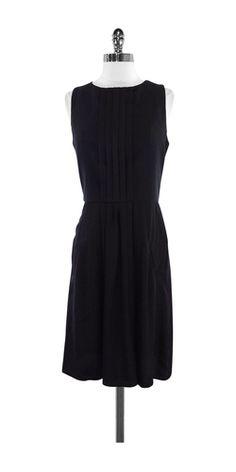 Thakoon Addition Black Silk Pleat Panel Dress