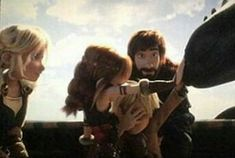 Oh. My. God. OK so the girl is Astrid with Hiccups's hair color. The boy is Hiccup with Astrid's Hair color.