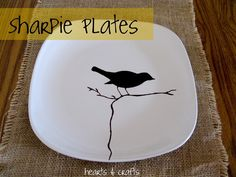 DIY sharpie plates - great for idea for Spring table decor! DIY sharpie plates - great for idea for Spring table decor! DIY sharpie plates - great for idea for Spring table decor!