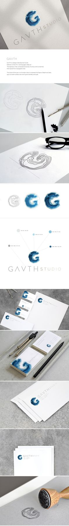 GAVTH is a design & development studio.Definition of GAVTH in old language is deep pit. The logotype, in fact, composed exclusively of contour and curved lines that inspired from topographic lines.The choice of the color is not random; blue is a represe…