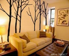 Wall Art Vinyl Decal Sticker Home Style Kids - AB6 Forest all six trees 101 height - 6 trees wall decal - tree and branches wall decal.. $85.00, via Etsy.