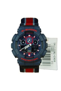 6f61e8c0595 GA-100MC-2A GA-100MC Casio G-Shock Blue Red Military G
