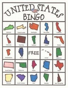 United States BINGO game (download free call cards and six game cards): I know adults who need this...Download at:  http://deceptivelyeducational.blogspot.com/2011/09/united-states-bingo-game.html