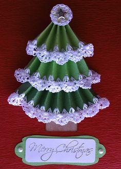 Crochet through paper with the Sharp Crochet Hook. Great card idea!