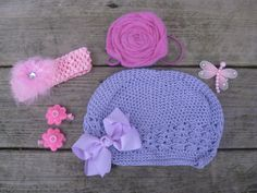 Pretty Purple, Pink, and Lavender Hair Accessory by CowboysAndCrowns, $14.00