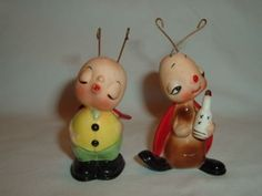 Up for bid are 2 vintage Josef Originals Japan, ceramic with metal antennas, lady bug/beetle figurines. Mini Things, Love Bugs, Lady Bug, Vintage Ceramic, Funny Faces, Kitsch, Beetle, Retro Vintage, Salt