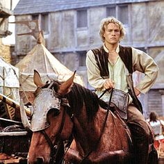 And because he looks that good - another Heath modeling the plainer peasant version of the knightly puffy shirt.