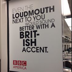 BBC America poster - LIRR, NY