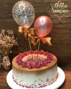 first birthday onederland Balloon Birthday Cakes, Birthday Cake Roses, 25th Birthday Cakes, Beautiful Birthday Cakes, Balloon Cake, Adult Birthday Cakes, Beautiful Cakes, Cake Decorating Techniques, Cake Decorating Tips