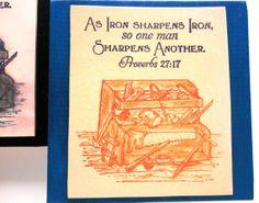 Scripture Wall Decor.  As Iron Sharpens Iron so one by WordofGod, $14.50  #castteam #sfetsy #capsteam #verseart #christian #christianart #etsy #shopetsy #ironart #ironverse