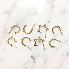 Open hoop gold earrings Small hoop earrings Open par BYLIAJEWELS