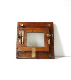 Photo Frame Antique Brass and Wooden Frame Industrial Decor