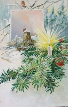 bumble button: More Enchanting Christmas postcards from 1800s - early 1900's