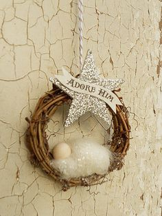 17 Nativity Ornament Adore Him Banner