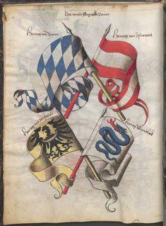 Grünenberg, Konrad: Das Wappenbuch Conrads von Grünenberg, Ritters und Bürgers zu Constanz um 1480 Cgm 145 Folio 15