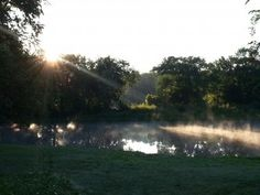 Sunrise at Black Hawk Park in Waterloo taken by Eric Thompson