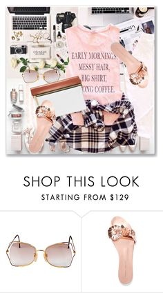"""My Mood Today"" by lidia-solymosi ❤ liked on Polyvore featuring Vintage Eyewear, Sophia Webster and Victoria Beckham"