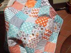 Woodland Baby quilt patchwork crib quiltbaby boy by happyquilts