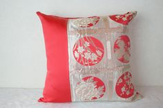 Kimono Obi Cushion Cover  Unique Japanese gifts by KimonoTango