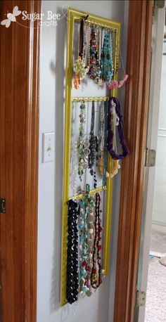 11 DIY Necklace Storage Ideas - for those who own lots of necklaces