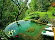 A gorgeous pool space that is peaceful and meditative!