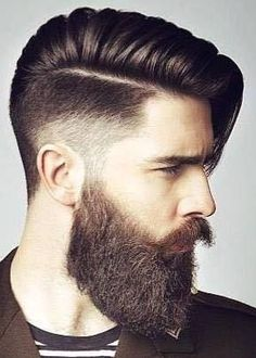 Beard Grooming Secrets : Revealed Now! – Men's Hairstyles and Beard Models Grow A Thicker Beard, Thick Beard, Tapered Beard, Beard Styles For Men, Hair And Beard Styles, Short Hair Styles, Rock Hairstyles, Side Swept Hairstyles, Combover Hairstyles