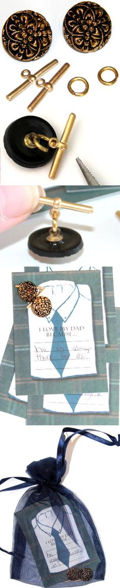 Handmade DIY Cufflinks for Dad � great fathers day gift!